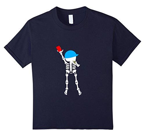 Soccer Referee Costume Kids (Kids soccer skeleton halloween shirt referees 6 Navy)