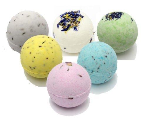 Bee Beautiful 6 X 65g Bath Bombs (approximately 5cm diameter) (Petals)
