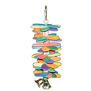 Super Bird Creations 8-1/2 by 3-Inch ABC Spoon Stack Bird Toy, Medium 117