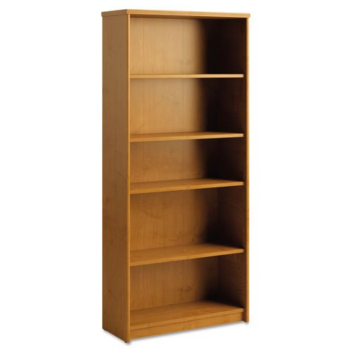 Bush PR76365 Envoy Series Five-Shelf Bookcase, 29-7/8w x 11-3/4d x 66-3/8h, Natural Cherry - Mdf Office Bookcase
