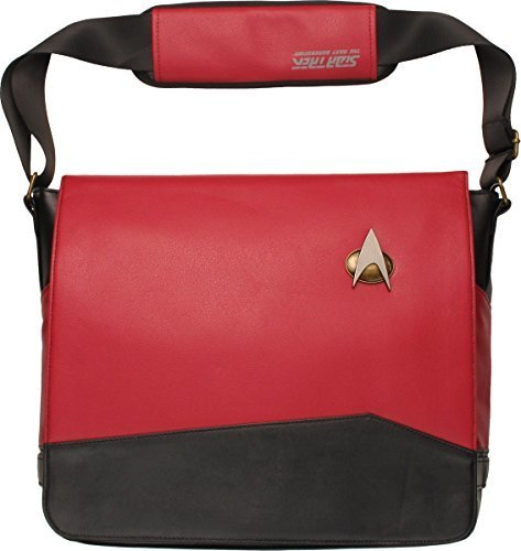 Star Trek Red Uniform Messenger Bag]()