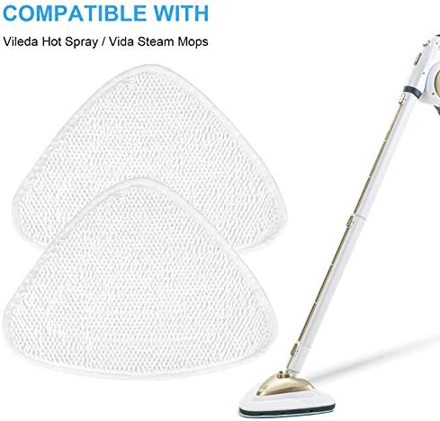 YOU 5 Pack Steam Mop Replacement Pads, Vileda Steam Mop Refill Pads Compatible with Vileda 100 Hot Spray Steam Mop