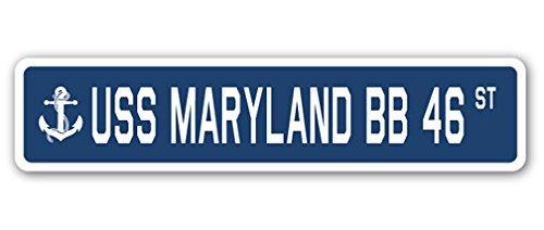 USS Maryland BB 46 Street Sign us Navy Ship Veteran Sailor Gift