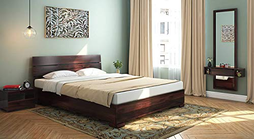Urban Ladder Ohio Low Bed  Finish : Mahogany; Bed Size : Queen