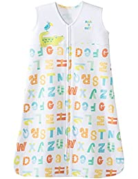 SleepSack 100% Cotton Wearable Blanket, Yellow Alphabet...