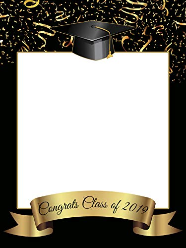 Double University Frame (Custom Home Decor Graduation Photo Booth Frame Prop - Size 36x24, 48x36; Personalized College or University Degree Photo Frame, Class of 2019 - Handmade DIY Party Supply Photo Booth Props)