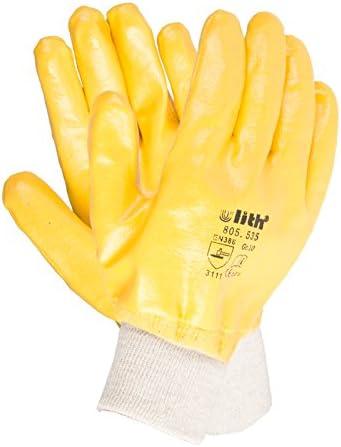 Arbeitshandschuhe Nitril gelb