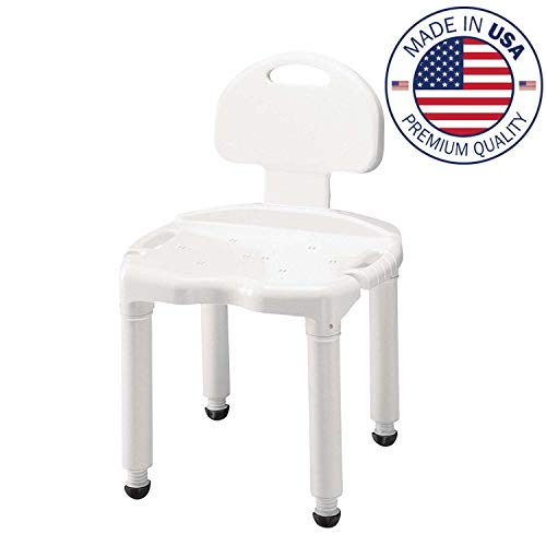 - Medical Tool-Free Spa Bathtub Adjustable Shower Chair Seat Bench