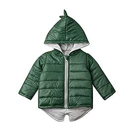 BOBORA Kids Winter Waistcoat, Baby Girls Boys Warm Hoodie Vest Dinosaur Rainbow Hoodie Gilet Vest Coats Outwear Clothing for 0-7Years