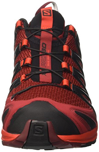 Salomon Herren Xa Pro 3D Traillaufschuhe Mehrfarbig (Red Dalhia/fiery Red/black)