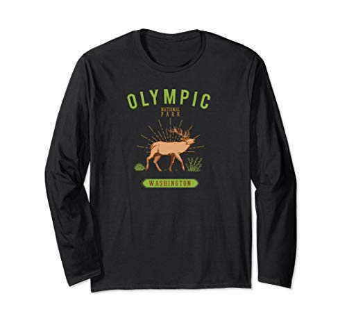 Olympic National Park Shirt Washington Roosevelt Elk Long Sleeve T-Shirt