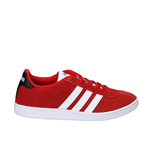 Baskets Adidas Neo Vl Court Chaussures Rouges Homme Bb9633 45 1/3