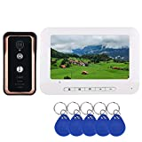 JINPENGPEN 7 inch Intelligent Video intercom Access Control System with RFID Card Reader HD 1000TVL Infrared Camera