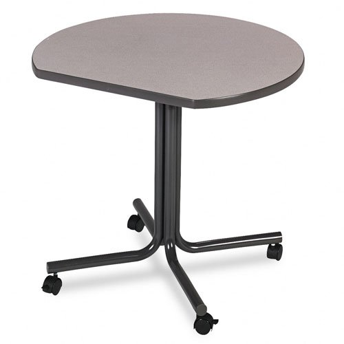 (HON 61369DCG2SS 61000 29-1/2 by 36-Inch Diameter Conference End Table with Casters, Round, Gray)