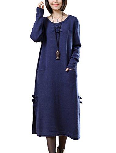 MatchLife - Vestido - para mujer Style2-Navy Blau
