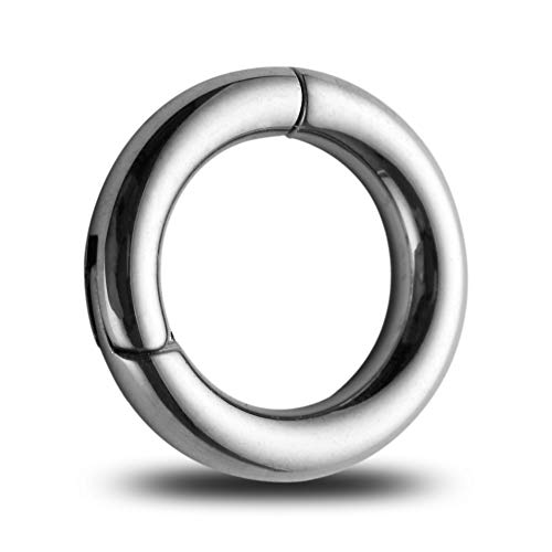 TENPEN 18G-14G 316L Steel Clicker Segment Nose Hoop Ring