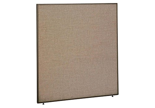 Panel 60W x 66H Dimensions: 60.125''W x 1.875''D x 66.875''H Weight: 77 lbs Harvest Tan Fabric/Taupe Frame by Bush Business Furniture
