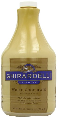 Ghirardelli Chocolate Flavored Sauce, Classic White Chocolate, 89.4 - Ounce Container Classic White Flavored Sauce