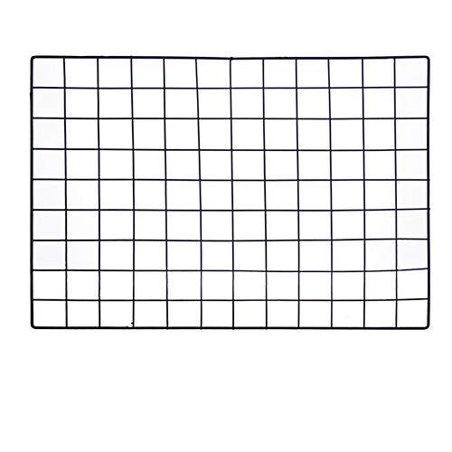 ShouYu DIY Grid Photo Wall,Multifunction Wall Mounted Ins Mesh Display Panel,Wall Art Display Organizer,Memo Board (65 x 45cm,Black) ()