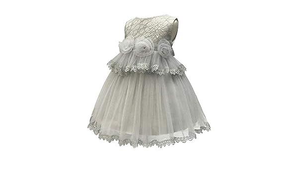 XFentech Baby Dress Kids Girls Sleeveless Flower Party Princess Baptism Dress