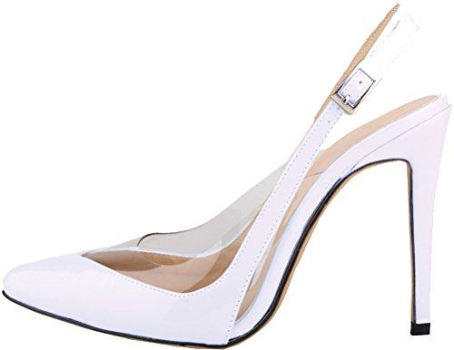 Salabobo - Zapatos con correa de tobillo mujer blanco