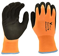 100% Waterproof Winter Gloves for outdoo...