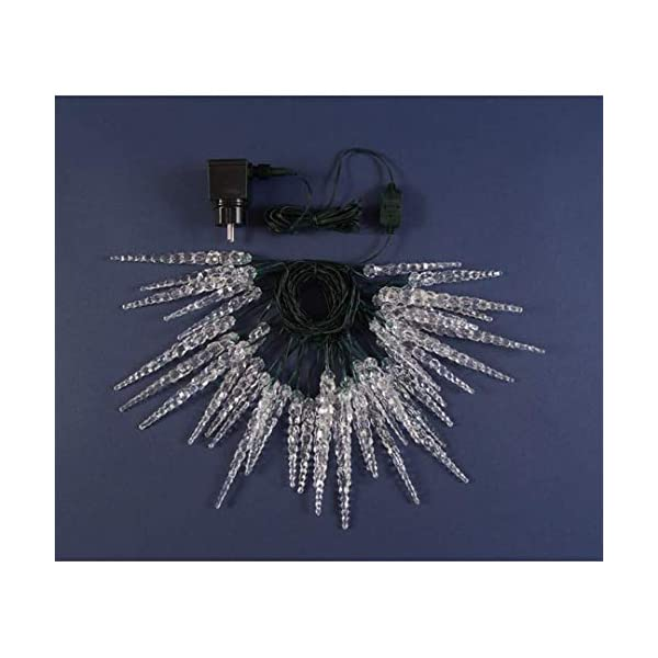 XMASKING Catena 8 m, 40 LED Blu con Decorazione Ghiaccioli, Cavo Verde, Decorazioni Luminose, luci di Natale, luci Decorative, Catene Luminose, luci Natalizie, Effetto Ghiaccio 3 spesavip