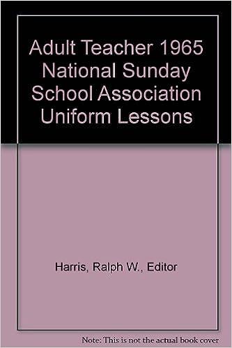 Adult Teacher 1965 National Sunday School Association