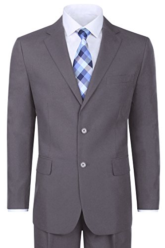 Haggar Mens Textured Pinstripe Tailored Fit 2 Button Suit Separate Coat Gray,