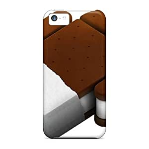 Iphone 5c Case Cover - Slim Fit Tpu Protector Shock Absorbent Case (ice Cream Sandwich)