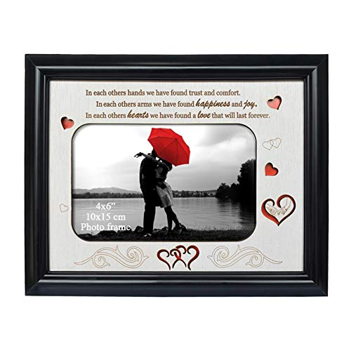 PETAFLOP Picture Frames 4x6 Picture Frame with Engraved Saying Christmas Gifts Anniversary Gifts