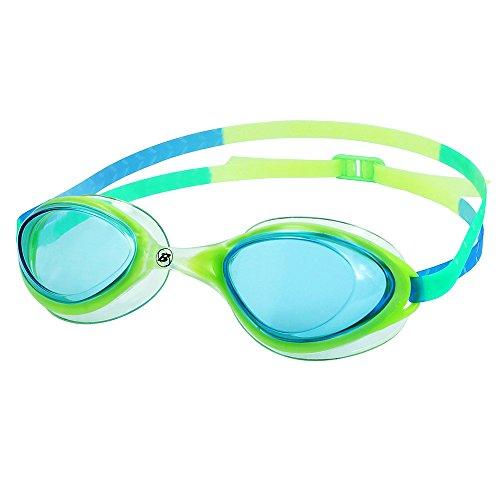 Barracuda Swim Goggle AQUABELLA - Modern Streamlined Design, Anti-Fog UV Protection, Easy Adjusting, Ultra Lightweight Comfortable No Leaking, Fashion Colors for Adults Women Ladies #35955 (Green)