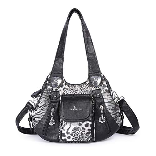 Angel Barcelo Mini Shoulder Bag for Women Messenger Handbags Cross Body Multi Zipper Pockets Bag