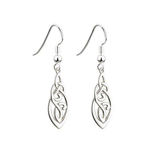Irish Trinity & Celtic Knot Earrings Sterling Silver by Failte