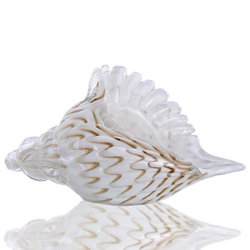 Qf Glass Conch Shell Home Decorations Hand Blown Glass Animal Figurines or Sculpture Collectible Figurines