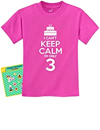 NoveltyBirthday Cake - I Can't Keep Calm I'm 3 Children's Funny Kids T-Shirt
