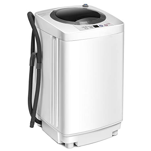 COSTWAY 2 in 1 Portable Washing Machine - 6 Modes, Adjustable Water Level, Fully...