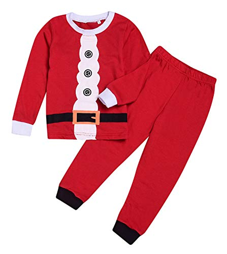 Younger star Christmas Sleepwears Unisex Little Boys Girls Pjs Long Kid Holiday Pajamas Sets (Red, 4-5 Years) for $<!--$9.99-->