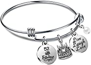 Birthday Gifts for Her Bangle Bracelets Live Laugh Love for 13th 18th 21st 30th 40th 50th 60th