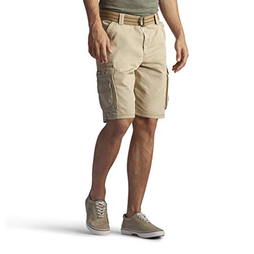 - Lee Men's Big and Tall New Belted Wyoming Cargo Short, Buff, 52W