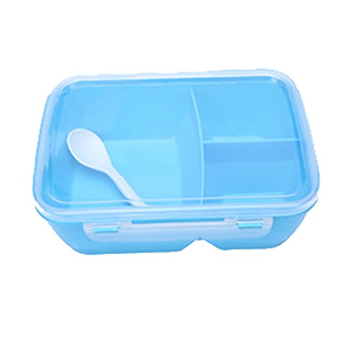 Price comparison product image mk. park - Portable Microwave Lunch Box Bento Food Picnic Container Storage Bento Box Spoon (Blue)