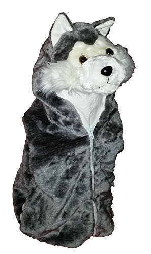 [Fashion Vest with Animal Hoodie for Kids - Dress Up Costume - Pretend Play (Medium, Wolf)] (Kids Wolf Costumes)