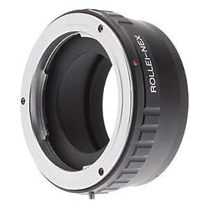 Conseguir Rollei QBM Lens para Sony NEX adaptador de E-Mount cámara cabe NEX-3 NEX-5 NEX-VG Cámara