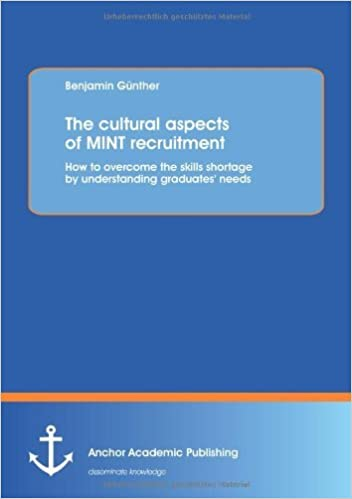 Book The cultural aspects of Mint recruitment: How to overcome the skills shortage by understanding graduates' needs by Benjamin G??nther (2013-02-19)