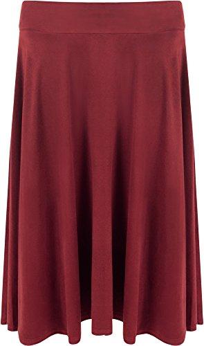 Jupes Femmes Regardez Tailles Vin WearAll tendue 56 Jupe Longueur vase Longue Genou Femmes Daim Dames 42 w4ttqvPA