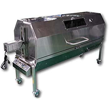 Charotis Propane/Charcoal 60W Motor,100% Stainless Steel BBQ rotisserie for Whole Pig, Lamb, Goat - Model SSGC1
