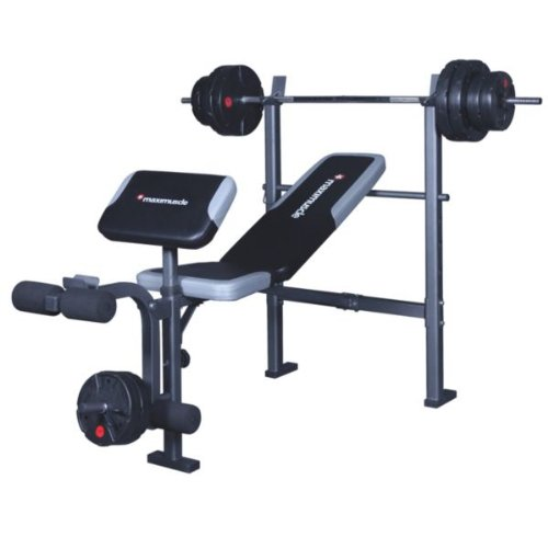 Maximuscle Bench And Weights Package With Advanced Heartrate Watch