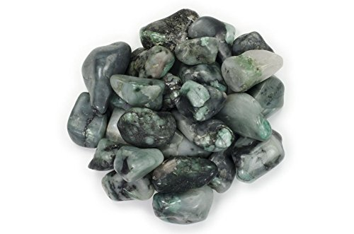 Hypnotic Gems Materials: 1 lb Emerald Tumbled Stones A Grade from Brazil - Bulk Natural Polished Gemstone Supplies for Wicca, Reiki, and Energy Crystal HealingWholesale Lot