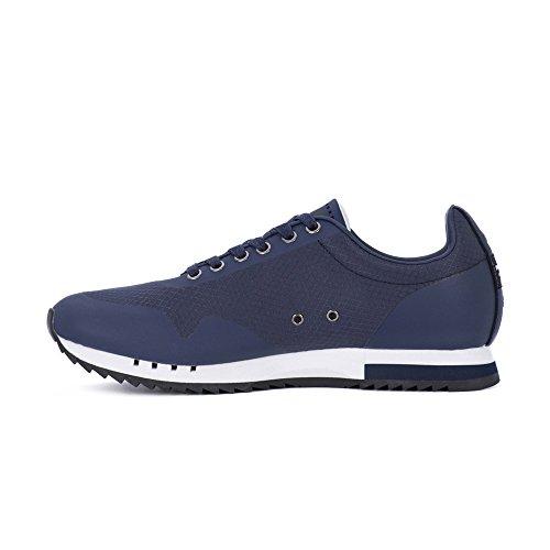 Blauer Sneakers Uomo Eco Pelle Navy