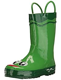 Western Chief Frog Rain Boot (Toddler/Little Kid/Big Kid),Green,6 M US Toddler